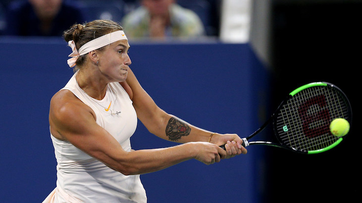 Sabalenka poza Coupe Banque Nationale